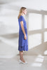 Blue Chalk Silk Shift Dress