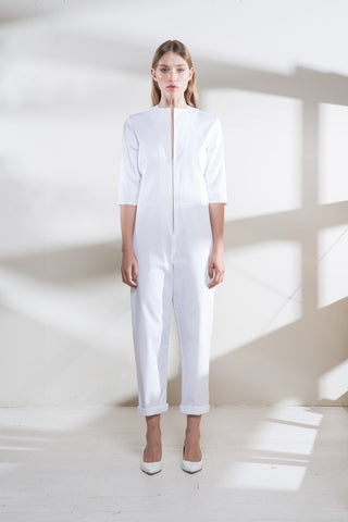 White Denim Kill Jumpsuit