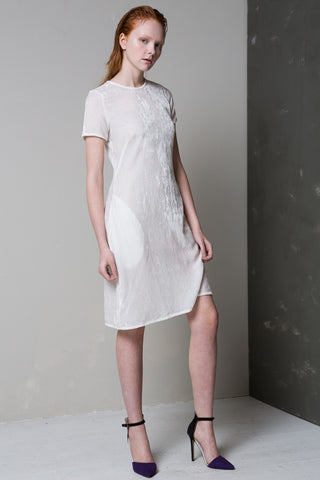 White Light Velvet Dress