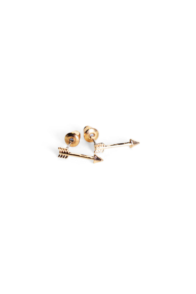 Arrow Studs Gold