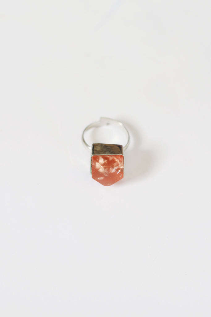 Metallic Resin Rings Metallic Pink