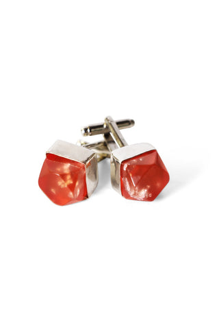 Metallic Resin Cufflinks Metallic Pink