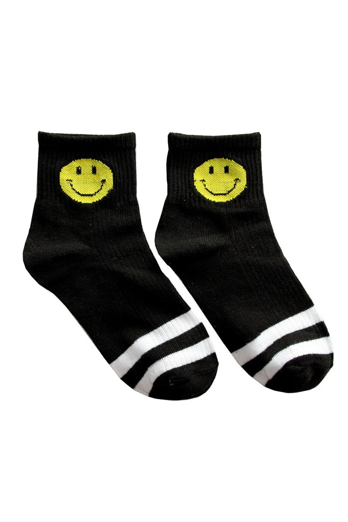Black Smiley Socks