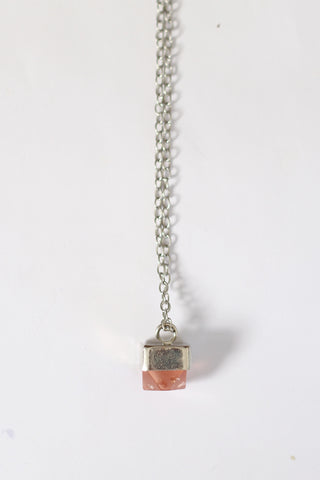 Metallic Mini Gem Necklace Rose