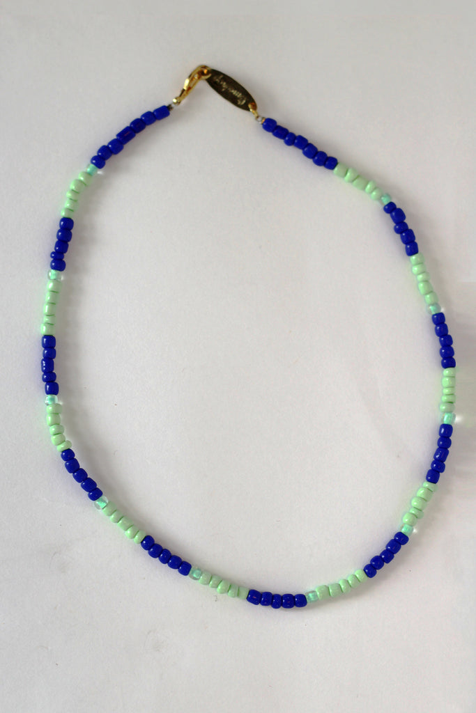 Blue Stripe Necklace