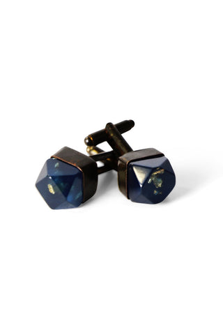 Metallic Resin Cufflinks Metallic Blue