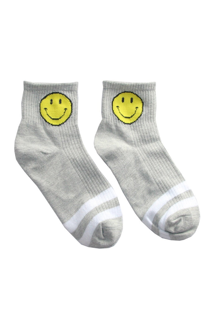 Grey Smiley Socks