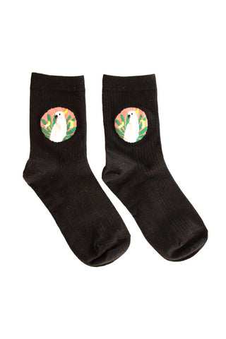 Black Cockatoo socks