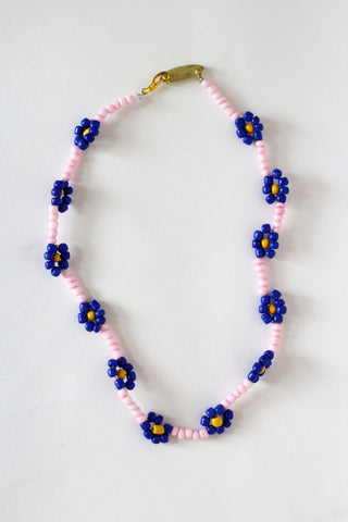 Pink Daisy Necklace