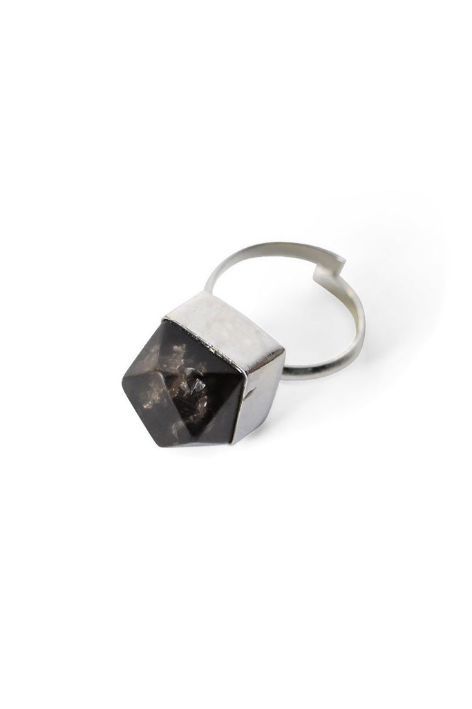 Metallic Resin Rings Metallic Black