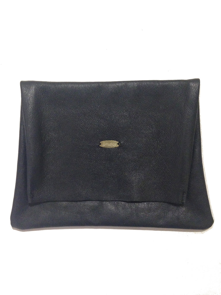 Leather Pouch Black Large