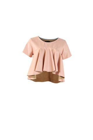 Blush Vegan Leather Top