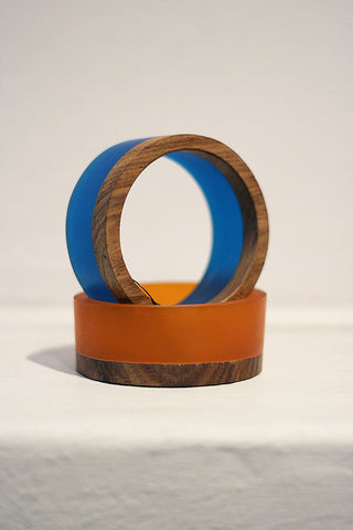 Resin & Rosewood Bangle GIFT PACK Royal/Fanta