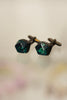 Metallic Resin Cufflinks Metallic Emerald