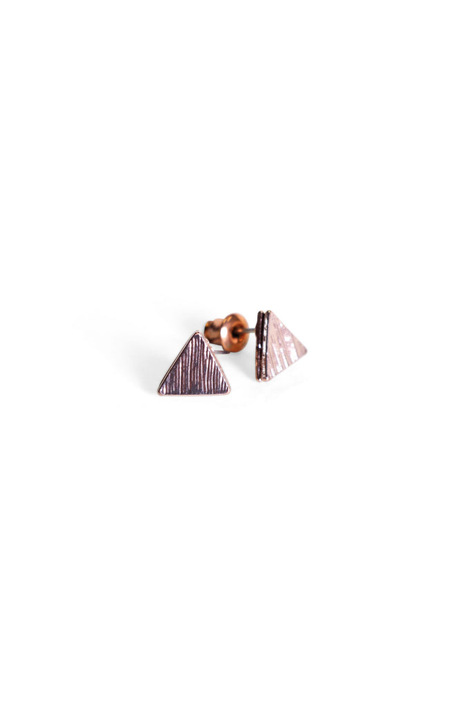 Triangle Studs Rose Gold