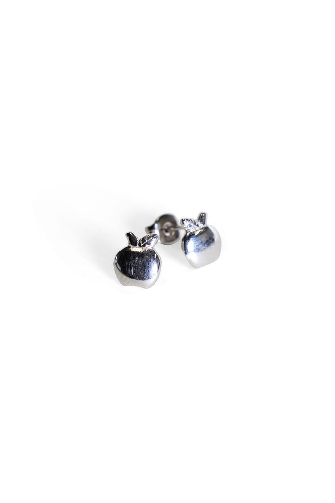 Apple Studs Silver