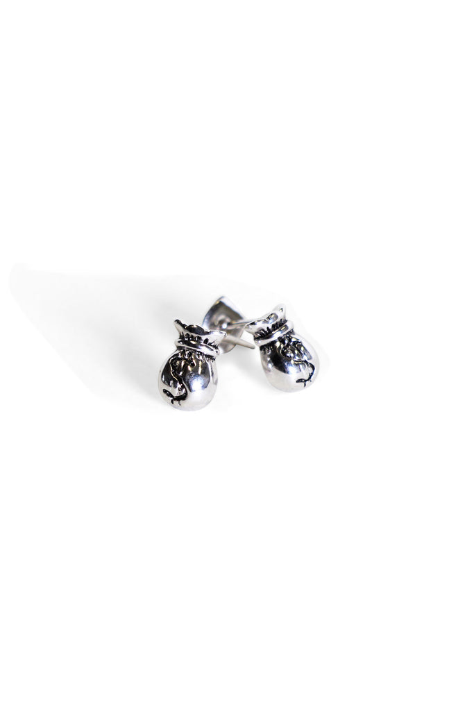 Money Bag Studs Silver