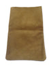 Suede Leather Pouch Tan Large