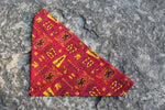 Gryffindor House Bandana made from Warner Bros. fabric