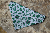 Slytherin House Bandana made from Warner Bros. fabric