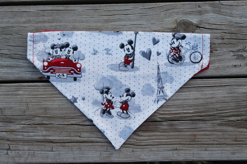 Mickey and Minnie in love Bandana made with Disney Fabric