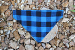 Blue Buffalo Plaid Bandana