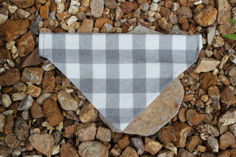 Grey Buffalo Flannel Plaid Bandana