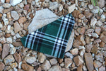 Green Glen Check Plaid Bandana
