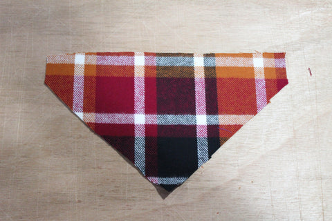 Autumn Colors Plaid Flannel Bandana