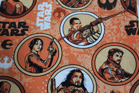 Star Wars New Characters Portrait Bandana made with Disney fabric