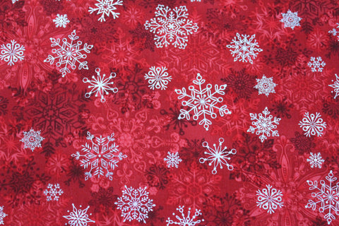 Christmas Red Snowflake Bandana
