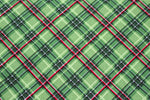 Green and Red Tartan Plaid Bandana