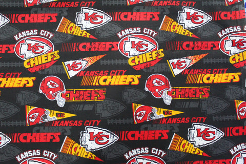 Kansas City Chiefs Alternate Bandana made with KC Chiefs fabric