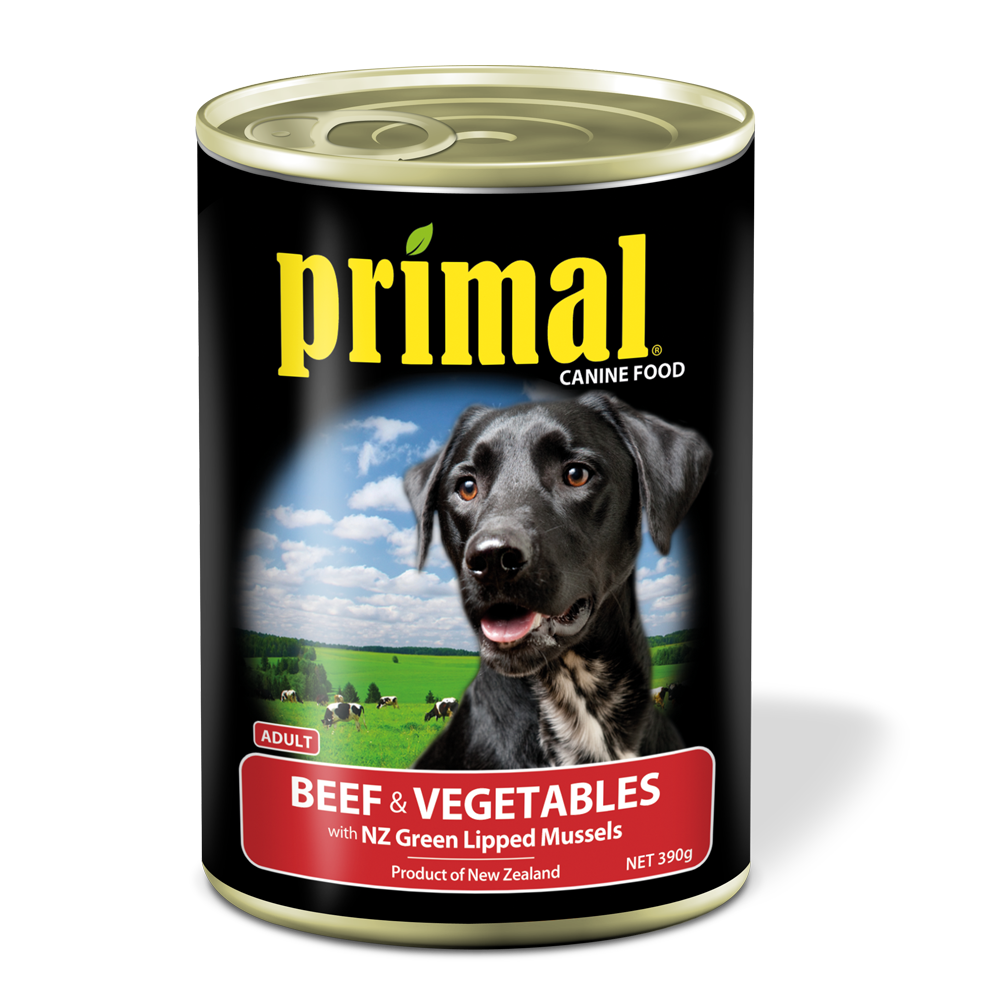 Primal Dog - Grain Free Beef & Vegetables