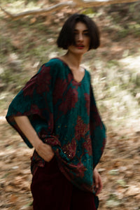 Short Caftan - Ruby