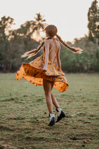 Sun Child Classic Dress - Saffron