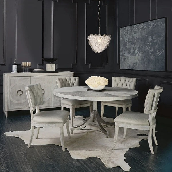 Bernhardt Domaine Blanc Round Dining Table Top and Base