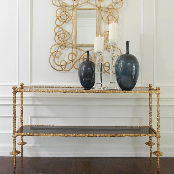 Global Views Gold Chiseled Console