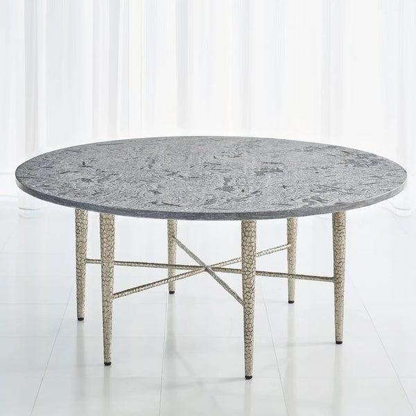 Global Views Hammered Cocktail Table