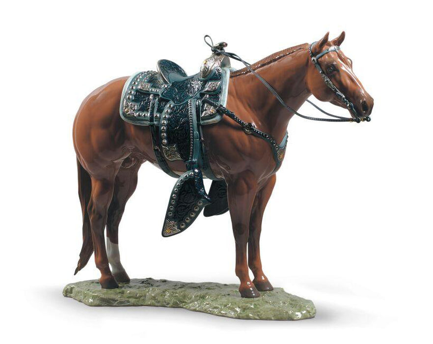 Lladro Quarter Horse Sculpture - Limited Edition