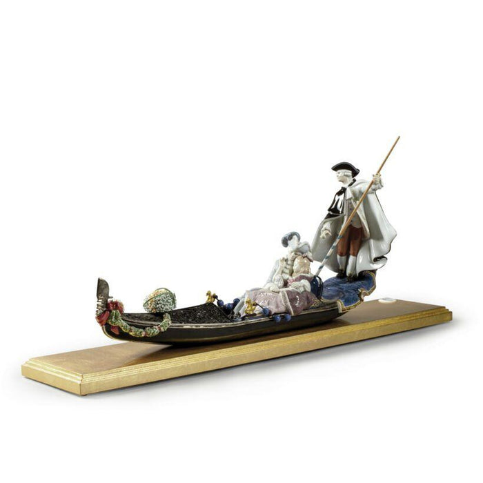 Lladro Gondola in Venice Sculpture - Limited Edition