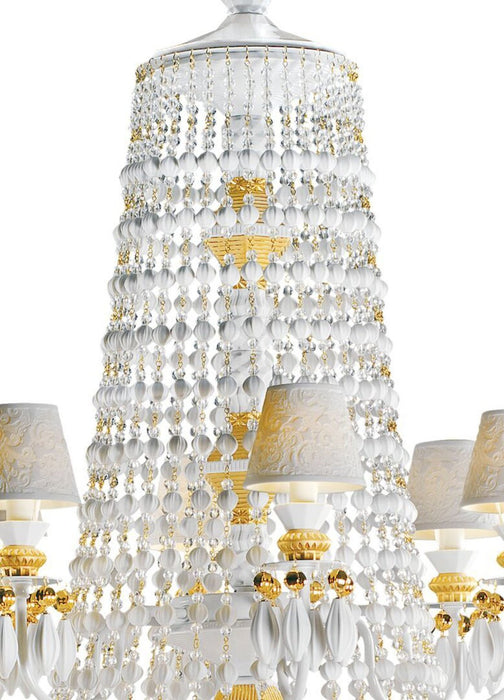 Lladro Winter Palace 30 Lights Chandelier - Golden Luster (US)