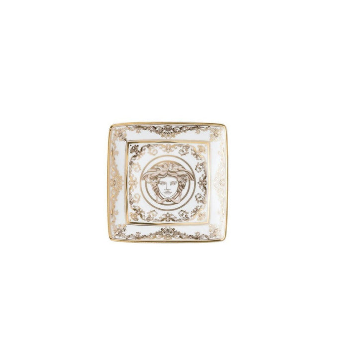 Versace Canape Dish Square 4.75 Inch Medusa Gala