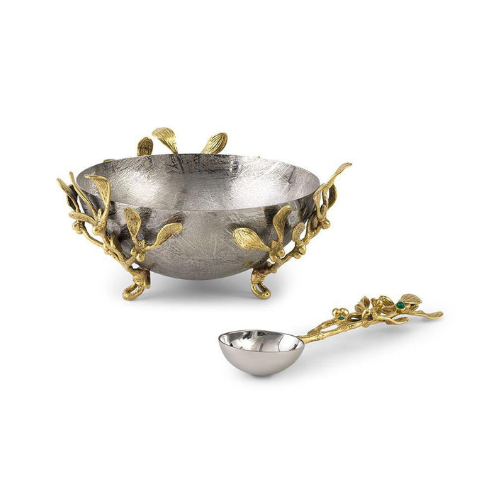 Michael Aram Mistletoe Small Dish W/Spoon