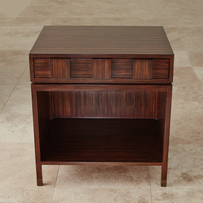 Global Views Quad Block Bedside Table