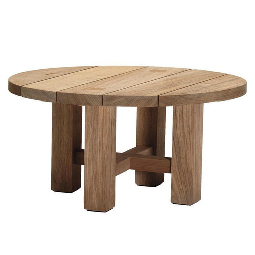 Summer Classics Croquet Teak Round Coffee Table