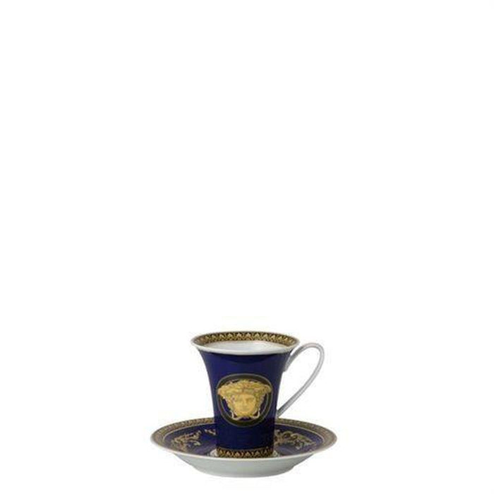 Versace Medusa Blue - Coffee Saucer