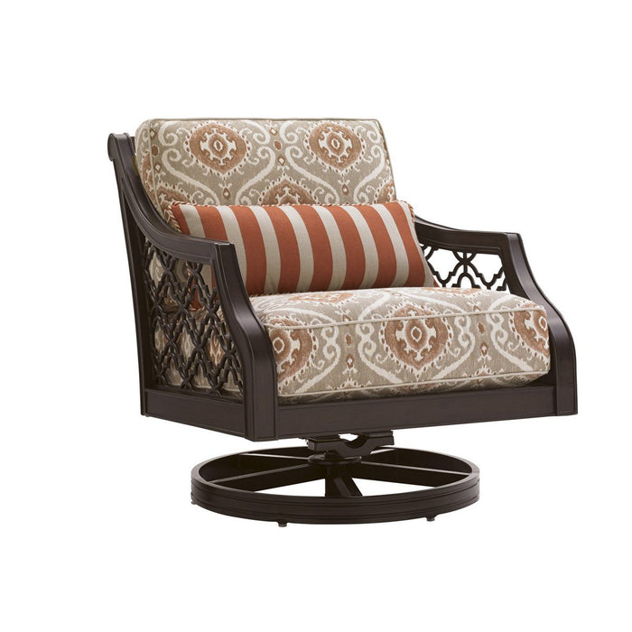 Tommy Bahama Outdoor Royal Kahala Black Sands Swivel Rocker Chair