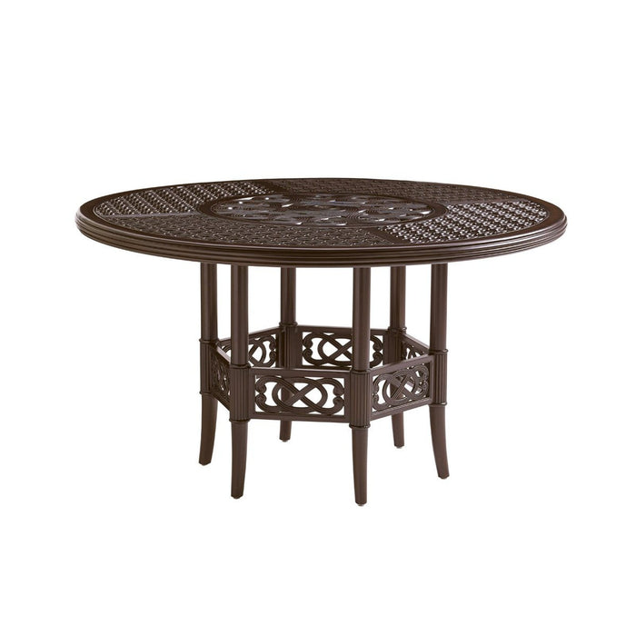 Tommy Bahama Outdoor Royal Kahala Black Sands Dining Table W/Cast Top