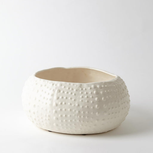 Global Views Ceramic Urchin Bowl Matte White